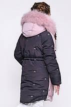 Детский зимний пуховик для девочки DT-8277- 15, фото 2