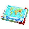Пазл Большая физическая карта мира, 4000 элементов, Trefl