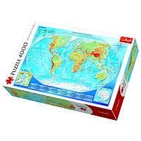 Пазл Большая физическая карта мира, 4000 элементов, Trefl, фото 1