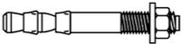 Анкер клиновой двухраспорный 6х150 мм с гайкой и шайбой, оцинкованный, 100 шт.