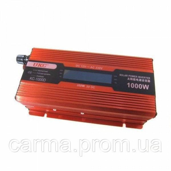 Профессиональный преобразователь инвертор UKC 1000W KC-1000D +LCD 12V