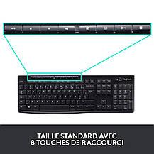 Беспроводная клавиатура и мышь Logitech MK270 французская, б/у, фото 2