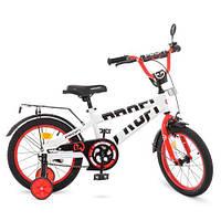 Велосипед дитячий PROF1 18Д. T18172 Flash білий
