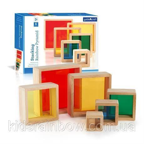 Набор блоков Block Play Цветная пирамидка