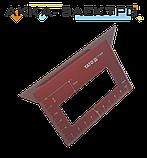 """Угольник  """"ЯПОНСКИЙ"""" алюминиевый YATO для углов 90° И 45° 150 мм, фото 2"""