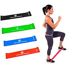Набор резинок для фитнеса и спорта мини тренажер 4 штуки в комплекте