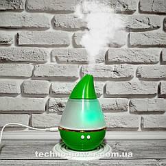 Увлажнитель воздуха 250 млультразвуковой Вулкан/Капля Зеленый. Увлажнитель воздуха для дома с подсветкой