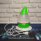 Увлажнитель воздуха 250 млультразвуковой Вулкан/Капля Зеленый. Увлажнитель воздуха для дома с подсветкой, фото 3