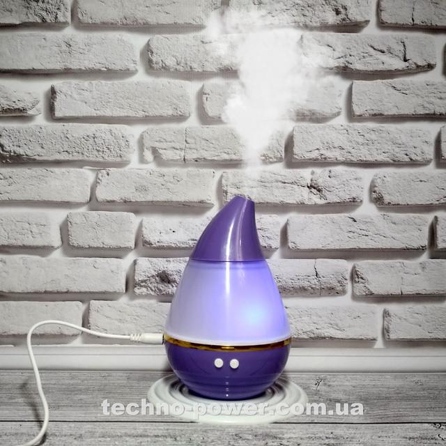 Увлажнитель воздуха 250 мл Вулкан/Капля ультразвуковой. Увлажнитель воздуха для дома с подсветкой Purple