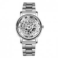 Мужские часы Skeleton steel 2