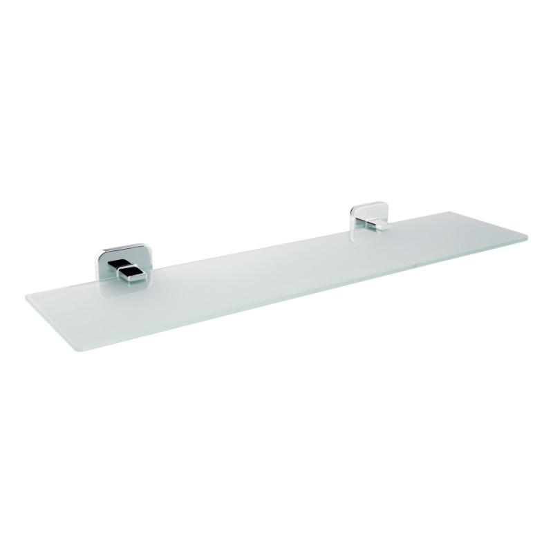 Полочка для ванной комнаты стеклянная (52*12 см) GF Italy (CRM)/S- 2707