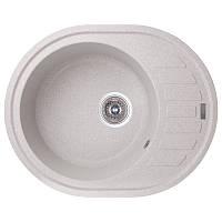 Мойка гранитная для кухни овальная GF 620x500x200 серый