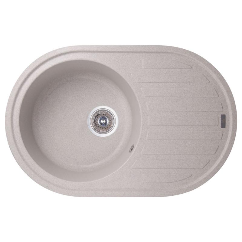 Мойка гранитная для кухни овальная GF Italy 200х500х780 серый