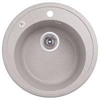 Мойка гранитная для кухни круглая GF Italy 200х510х510 серый