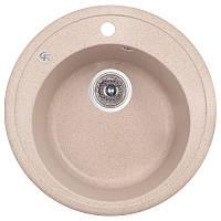Мойка гранитная для кухни круглая GF Italy 200х510х510 песок