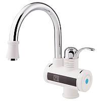 Проточный водонагреватель для кухни или рукомойника с дисплеем GF Italy (WCR)/E- 40-120 белый