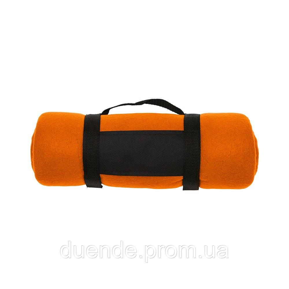 Плед флисовый, цвет Оранжевый - su 95176107