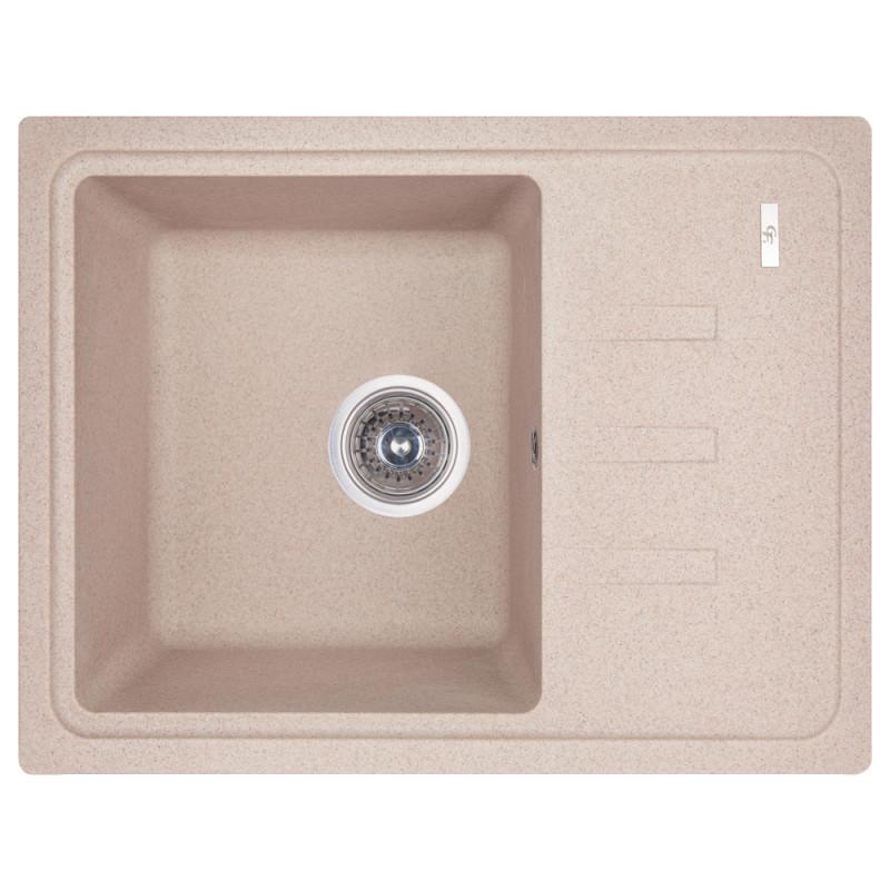 Прямоугольная гранитная мойка для кухни GF Italy 620x435x200 песочный