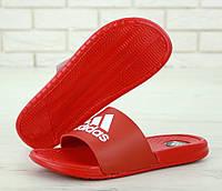 Мужские тапки сланцы Adidas Sleepers красные