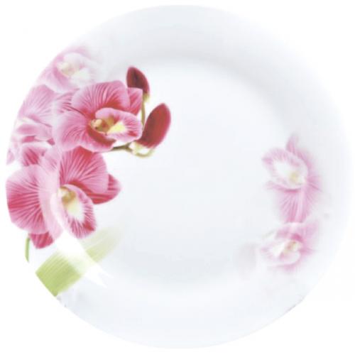 Тарелка S&T Красная орхидея мелкая 23 см 30002-1462