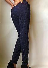 БАТАЛЬНЫЕ летние штаны N°17/1 горох синий, фото 3