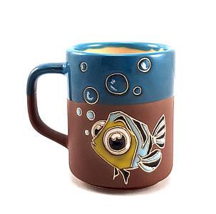 """Чашка керамическая """"Рыбка в море"""" 230 мл."""