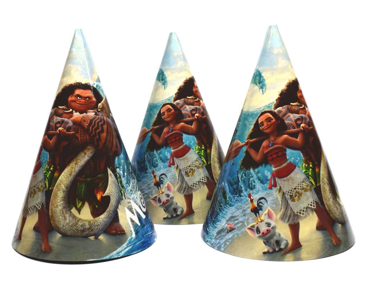 Святкові ковпаки Moana, 10 шт в упаковці