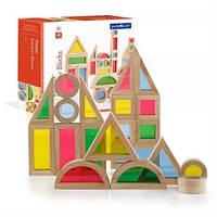Набор уменьшенных блоков Block Play Маленькая радуга, 40 шт., фото 1