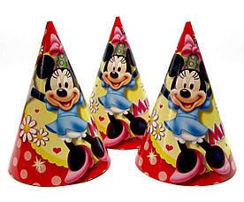 Праздничные колпаки Минни Маус, 10 шт в упаковке
