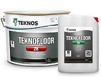 Эмаль эпоксидная TEKNOS TEKNOFLOOR 2К для пола в комплекте с отвердителем (под тонировку) 9 л