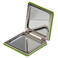 Двойное косметическое зеркальце, цвет Лайм - su 90800333