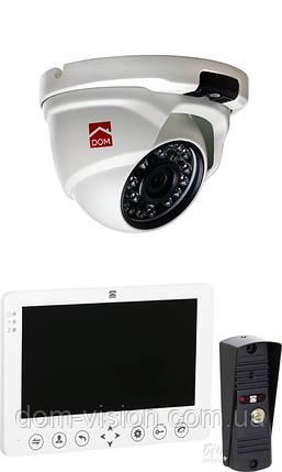 Комплект видеодомофон DOM D 7W (B) + камера DOM 20 H, фото 2