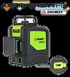 Лазерный уровень 12L (нивелир) SNDWAY SW-333G, фото 4