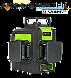 Лазерный уровень 12L (нивелир) SNDWAY SW-333G, фото 6