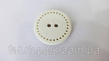 Пуговица  диаметр 3 см. белая   710