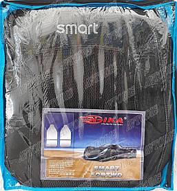 Авточехлы Smart Fortwo 450 1998-2006 (тёмно-серые) Nika
