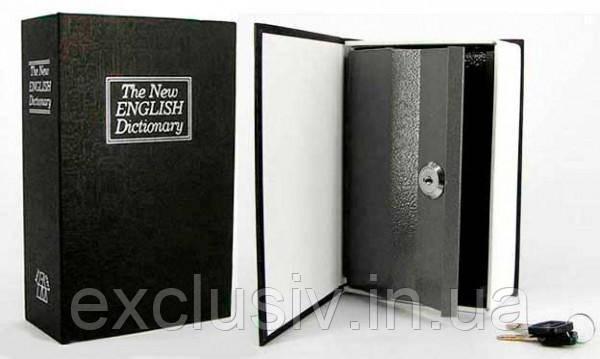"""Книга-сейф """"Английски словарь""""  Черная, фото 1"""