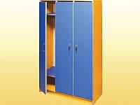 Шкаф 3-дверный для раздевалки — 780х330х1400 мм