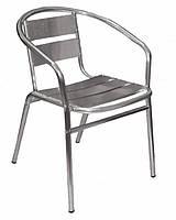 Кресло алюминиевое с подлокотниками