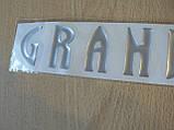 Наклейка s орнамент задний GRANDIS 203х40мм серебрист силиконовая надпись на авто Mitsubishi Митсубиши Грандис, фото 3
