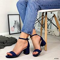 Женские босоножки синие 4796
