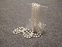 Декоративные пластиковые бусы под жемчуг 2м! бусы на елку