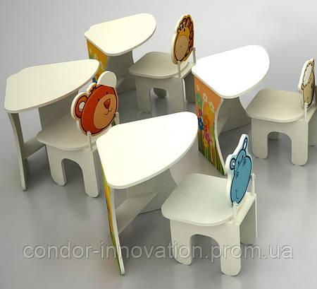 Комплект: стіл складний і 4 стільчика