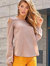 Женская шифоновая блузка с вырезами на плечах (Сара jd), фото 2