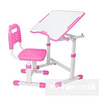 Комплект растущая парта 70х50 см и стул трансформеры для детей 3 - 15 лет ТМ FunDesk Sole ll Pink розовый