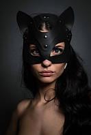 """Кожаная маска """"Кошка"""" (эко кожа)"""