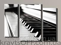 "Модульная картина на холсте из 3-х частей ""Пианино"" ( 66х90 см )"