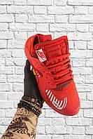 Мужские кроссовки Nike Air Huarache OFF-White красные