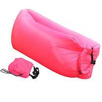 Надувной шезлонг диван лежак гамак ламзак Lamzak 240 см Розовый