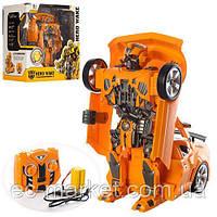 Трансформер 28168 TF, р/у,аккум, 27см,робот+машина,звук,свет, Бамбелби